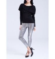 Asymmetric Hem Scarved Silk Cashmere Sweater