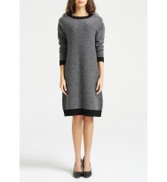2-Tones Textured Cashmere Dress