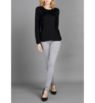 A-shaped Ruffle Trims Silk Cashmere Sweater