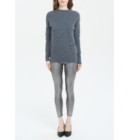 Decorative Zipper Texture Wool Sweater