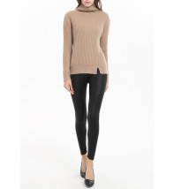 Engineering Ribs Front Slit Cashmere Sweater