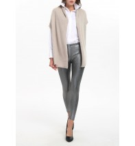 Plain Wrapped Cashmere Sleeveless Cardigan
