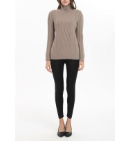 Cables T/Neck Cashmere Sweater